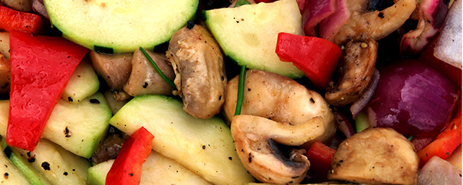 Gemüse-Vegan-grillen