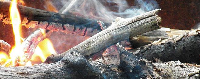 Holzverbrennung-Entgasung