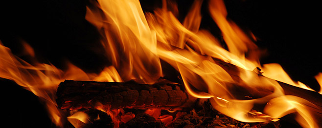 brennendes feuer