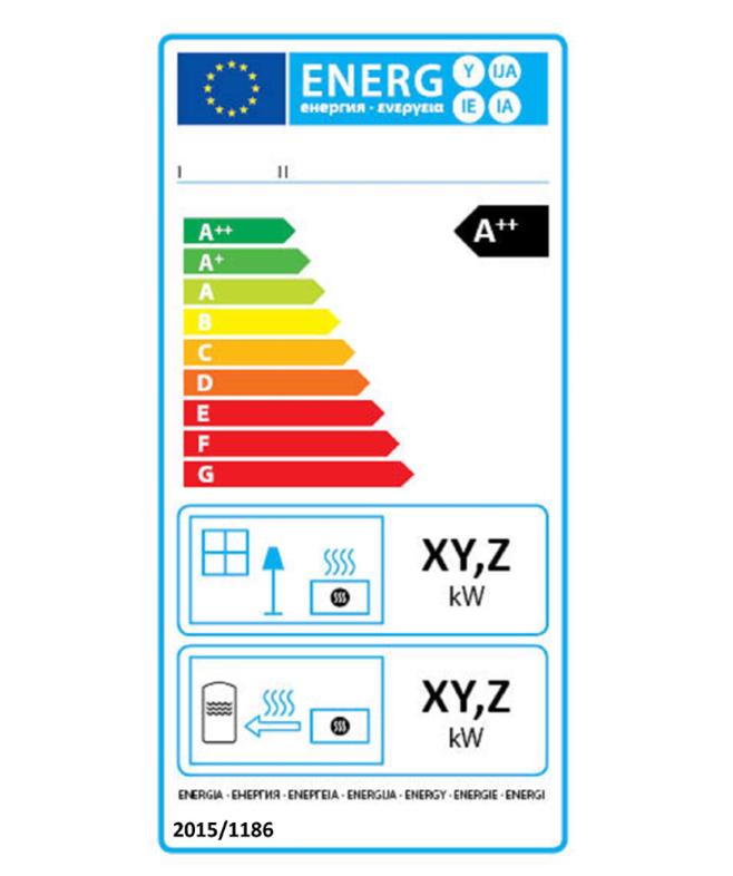 Energieeffizienzlabel-Beispiel