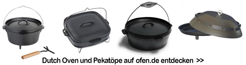 Verschiedene Dutch Oven für die Zubereitung von leckeren Pektopf-Rezepten