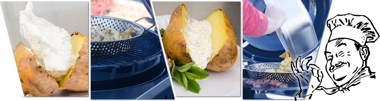 Collage verschiedener Kartoffelzubereitungen