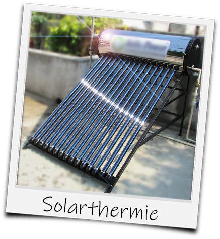 Polaroid Solarthermie auf dem Dach
