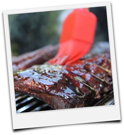Polaroid gemobte Steaks