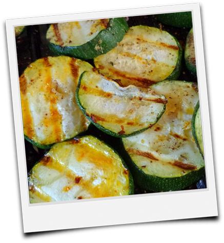 gegrillte Zucchinischeiben