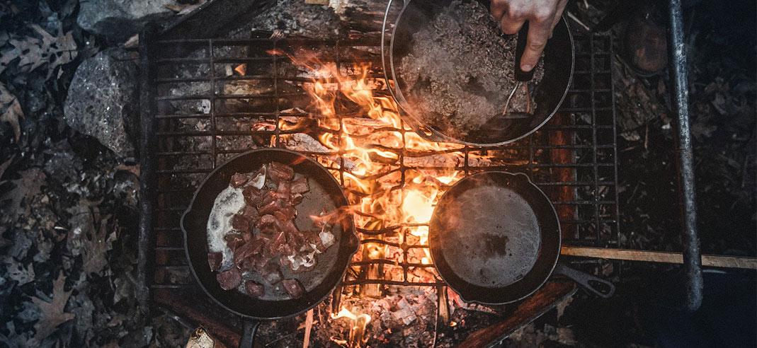 Cowboy Buffet auf offenem Feuer