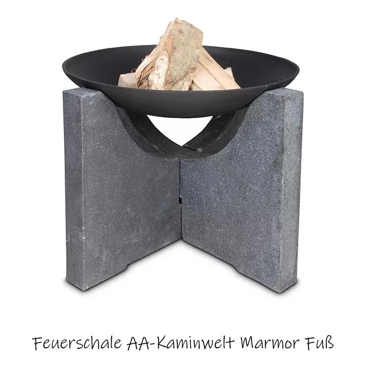 Produktbild einer Feuerschale auf Marmorgestell