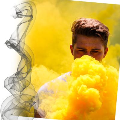 gelber Rauch