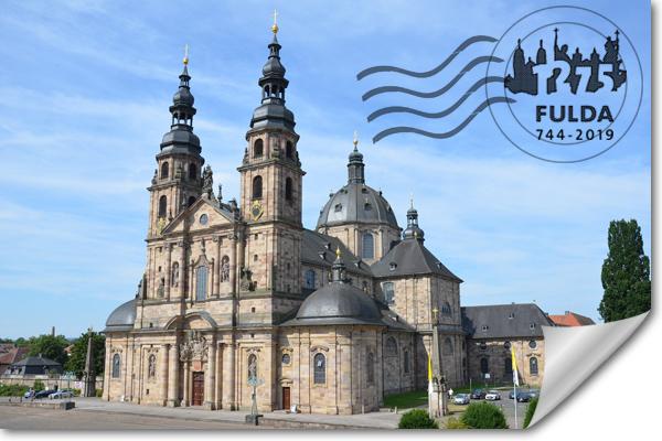Postkarte vom Dom zu Fulda