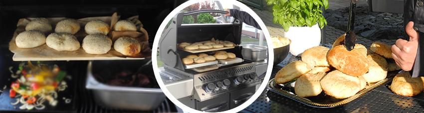 Bildfolge Hamburgerbrötchen im Gasgrill zubereiten