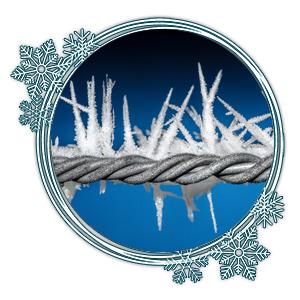 Bildung der Eiskristalle von der Mitte heraus