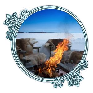Lagerfeuer im Eis