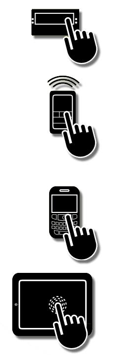 verschiedene Icons zur Bedienung eines MCZ Pelletofens