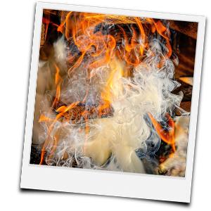 Kamin freibrennen - Ursache: Fehler beim befeueren