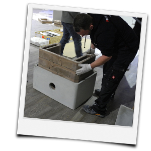 Kamin selber bauen - Baukastenprinzip