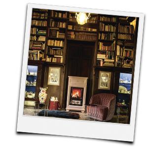 Kaminzimmer als Bibliothek
