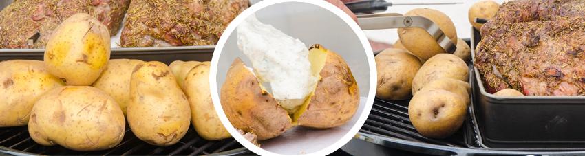 Bildfolge Kartoffel direkt vom Grill
