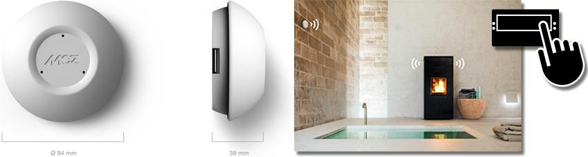 Produkt- und Ambientebild des MCZ WiFi Temperaturfühlers