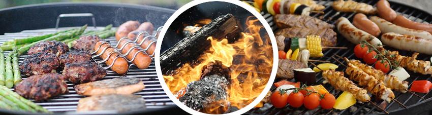 Bildfolge grillender Lebensmittel