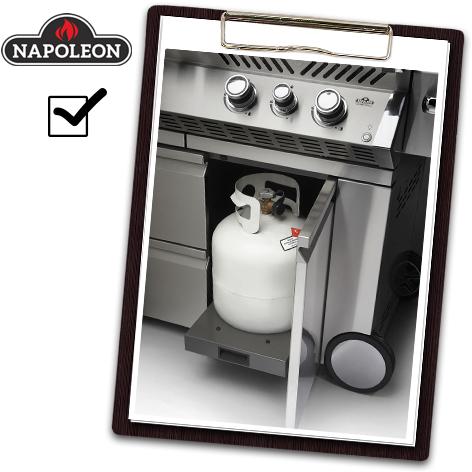 Napoleon Grill Test - hochwertig verbaute Elemente
