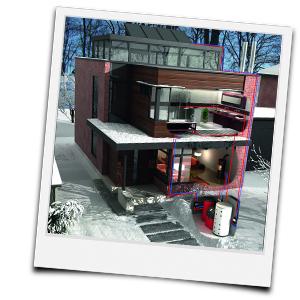 Schema Haus und moderne Heizanlage