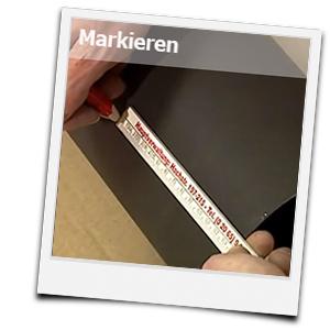 Ofenrohr vermessen und markieren