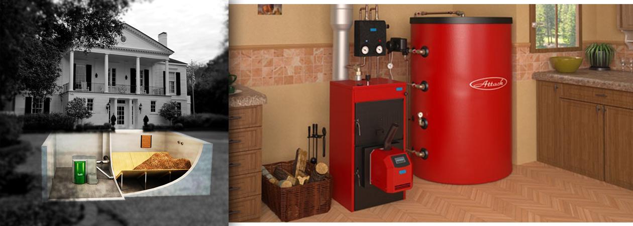 Platzverbrauch Pelletlager und Holzvergaserkessel