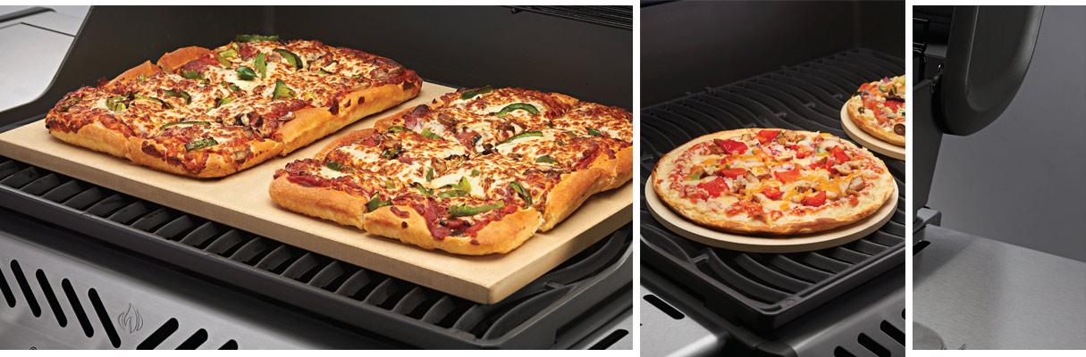 Beispiele von Pizzasteinen für den Grill
