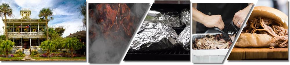 Bildfolge das pulled Pork richtig zupfen