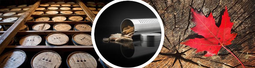 Bildfolge Räucherschips mit Whiskey und Ahorn Aroma