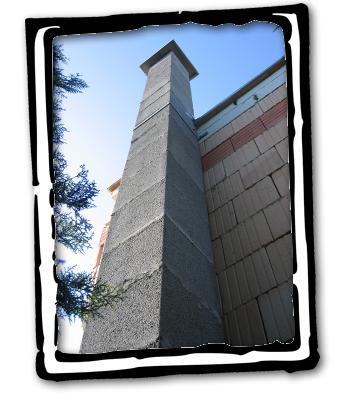 Foto gemauerter Schornstein Neubau