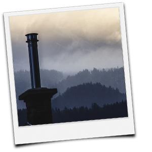 Edelstahlschornstein im gemauerten Schornstein