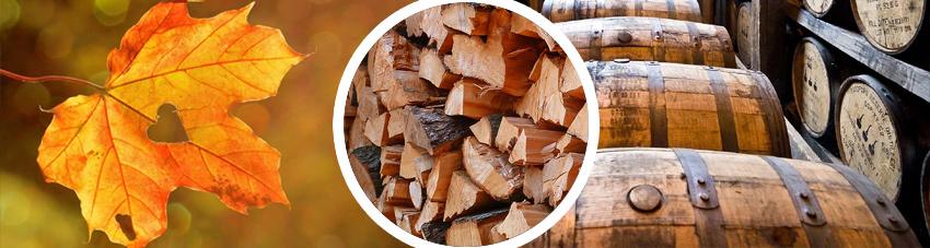 Verbildlichung verschiedener Holzsorten, welche sich für das Smoken eignen