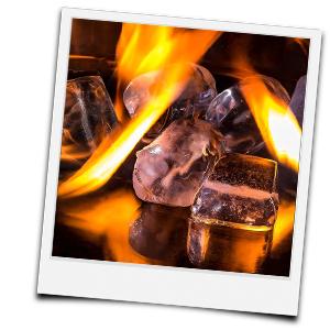 brennende Eiswürfel