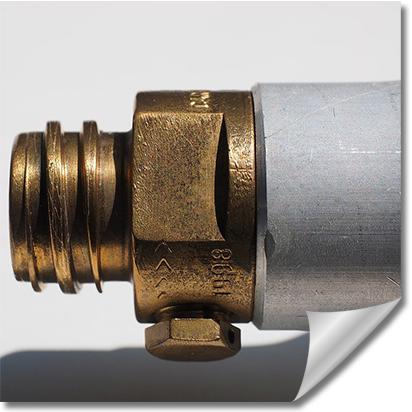Bild eines Gasflaschenverschlusses