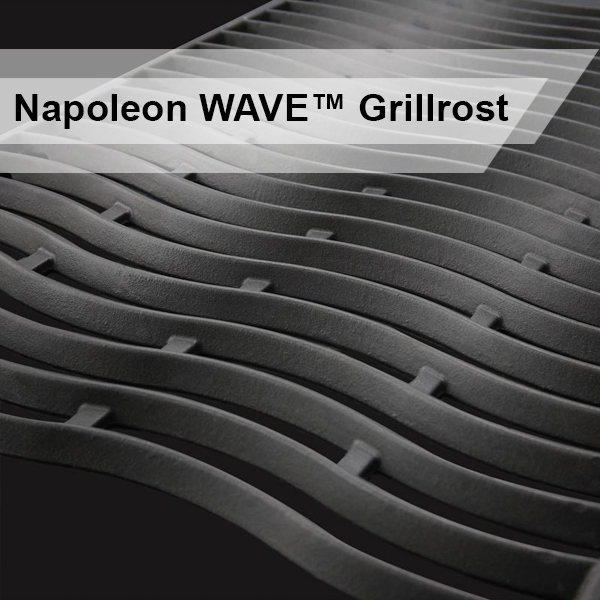 Nahaufnahme der WAVE Grillfläche eines Napoleon Grills