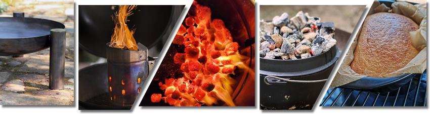 Bildliche Anleitung für die Zubereitung eines Weißbrotes im Duch Oven