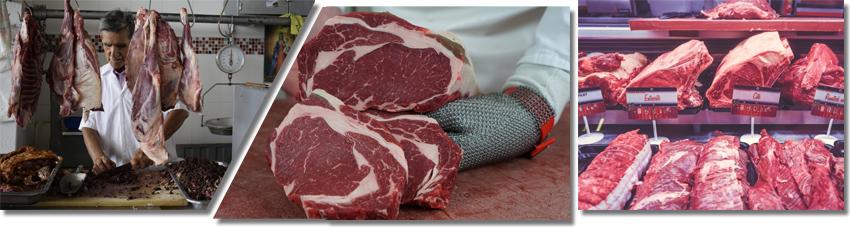 Bildfolge gutes Fleisch vom Fleischer