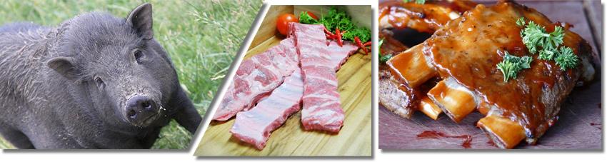 Bildfolge das richtige Fleisch auswählen