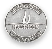 Spartherm Logo in der Brosche
