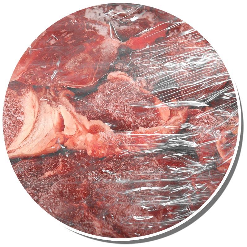 Bild vom verpackten tiefgefrorenem Fleisch
