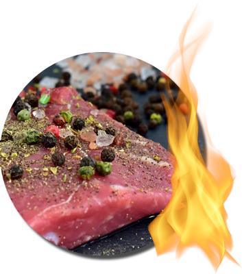 rohes gewürztes Steak