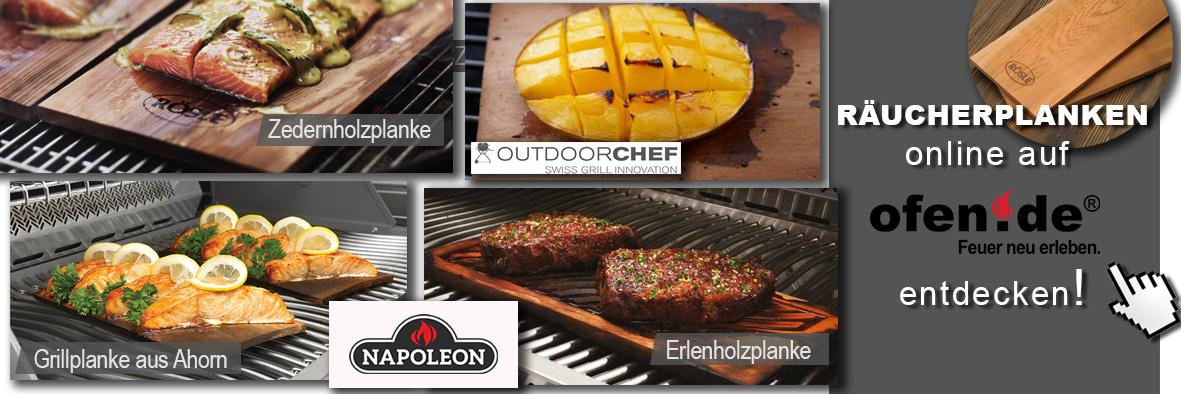 Verschiedene Räucherbretter für Plank Grilling
