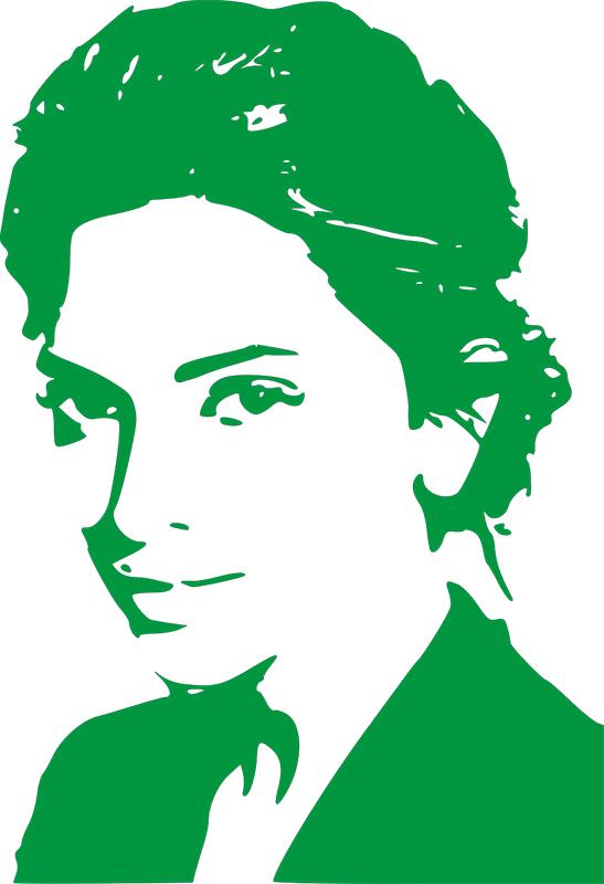 Illustration Frau mit Hochsteckfrisur