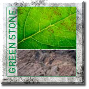GreenStone Logo auf Marmorplatte