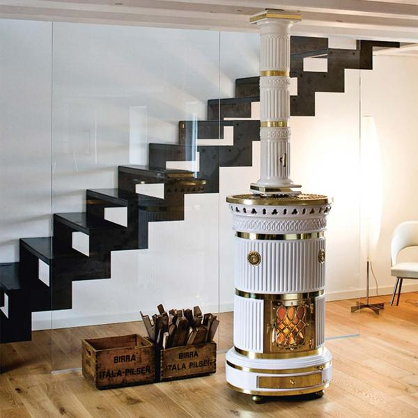 Designer-kamin von Segrio Leoni im Barock-Design