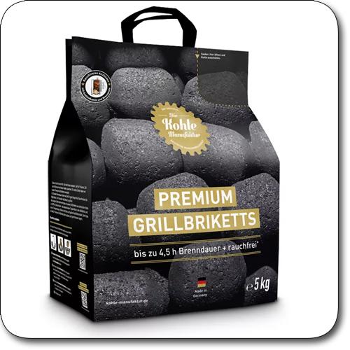Produktbild des Grillzubehör Kohle-Manufaktur Grillbriketts 5 kg