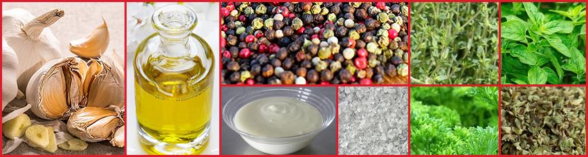 Zutaten für Knoblauch-marinaden-Rezept mit Joghurt
