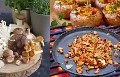 Titelbild für Blogbeitrag vegetarische Grillgerichte mit Pilzen