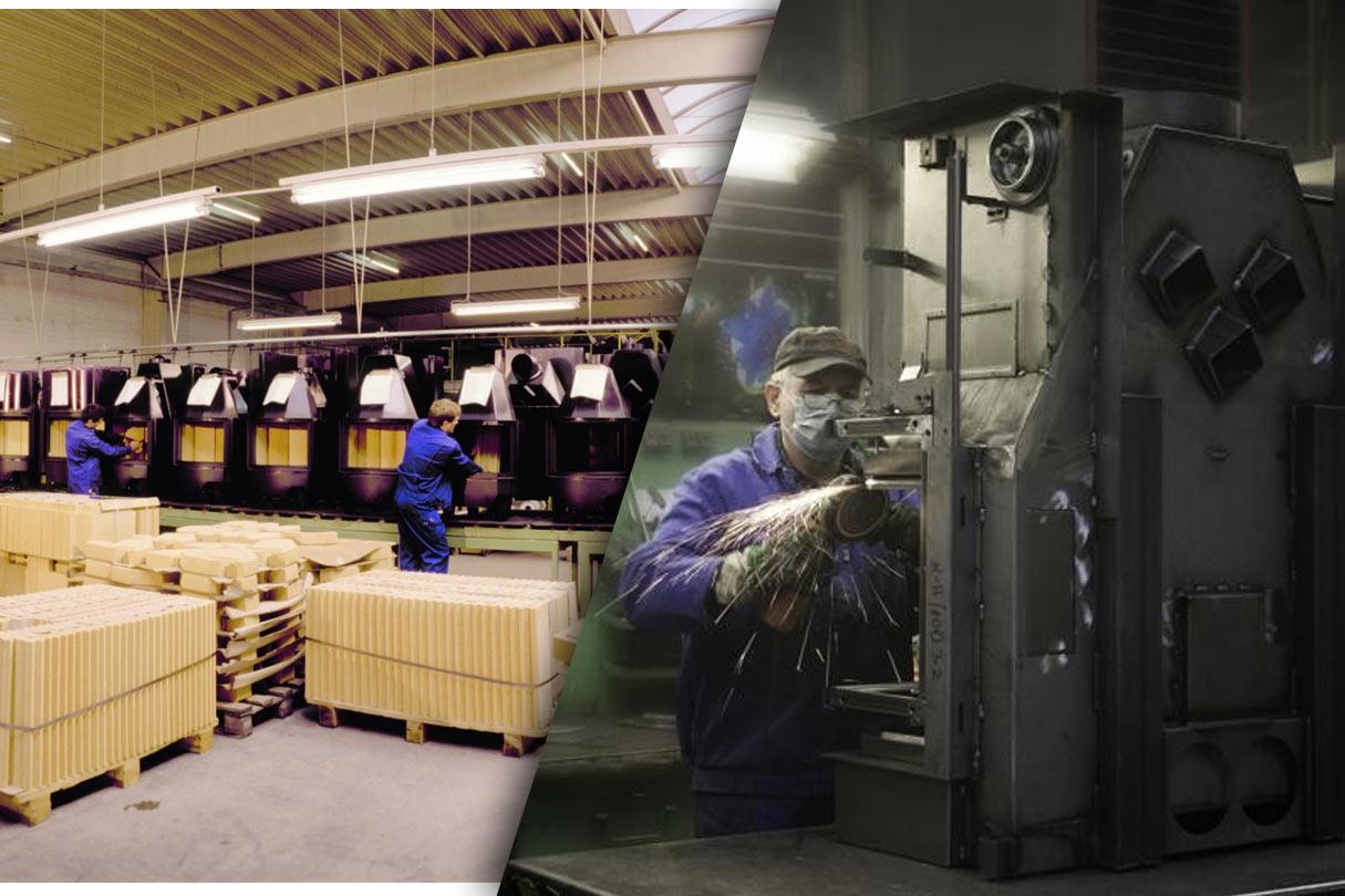 Kaminfabrik in Deutschland